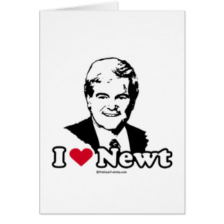 I Love Gingrich (2) Greeting Card