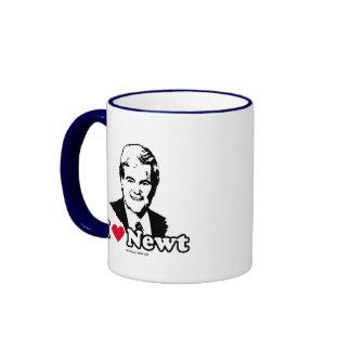 I Love Gingrich (2) Ringer Coffee Mug