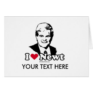 I Love Gingrich Greeting Card