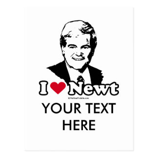 I Love Gingrich Post Card
