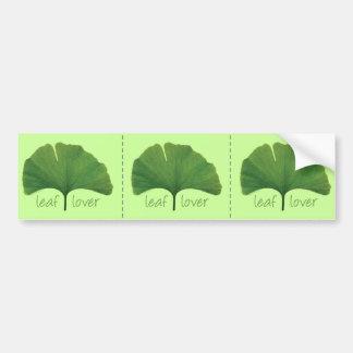 I Love Ginkgo Trees Car Bumper Sticker