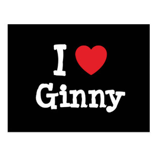 I love Ginny heart T-Shirt Postcard