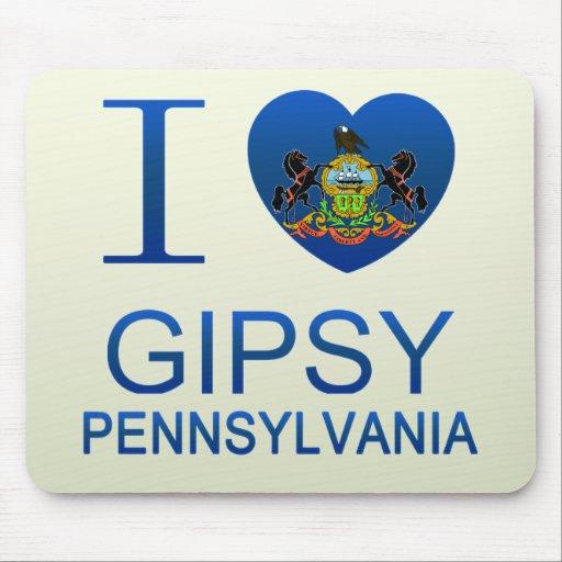 I Love Gipsy, PA Mouse Pads