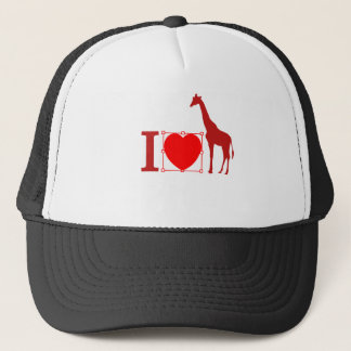 I love giraffe trucker hat