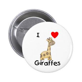I Love Giraffes (2) 2 Inch Round Button