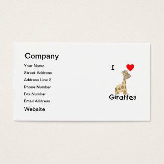 I Love Giraffes (2) Business Card