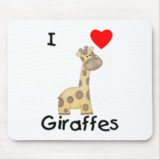 I Love Giraffes (2) Mouse Pad