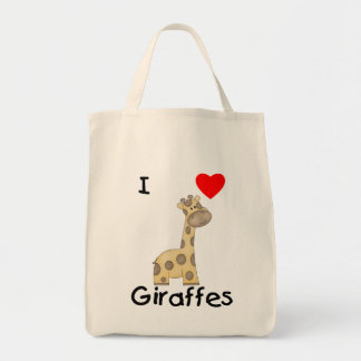 I Love Giraffes (2) Tote Bag