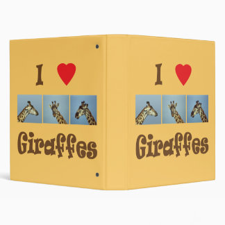 I love giraffes 3 ring binders