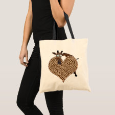 I Love Giraffes bag
