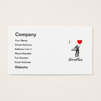 I Love Giraffes Business Card