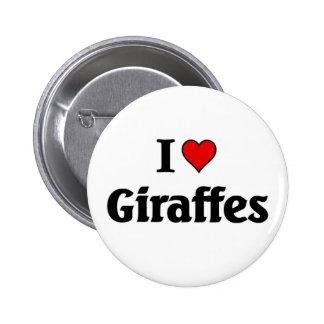 I love Giraffes Button