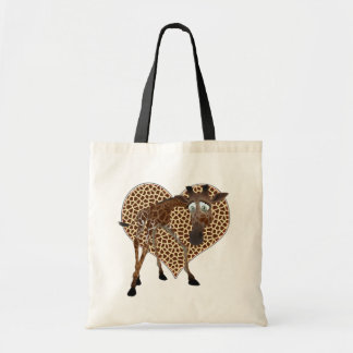 I Love Giraffes Canvas Bag