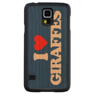 I LOVE GIRAFFES CARVED® CHERRY GALAXY S5 SLIM CASE