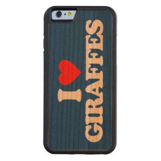 I LOVE GIRAFFES CARVED® CHERRY iPhone 6 BUMPER