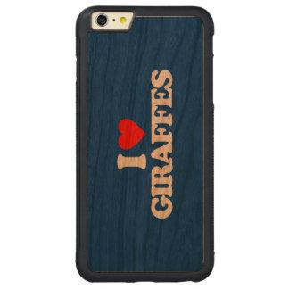 I LOVE GIRAFFES CARVED® CHERRY iPhone 6 PLUS BUMPER