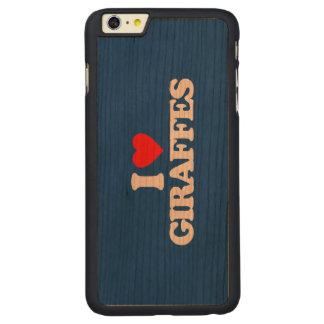 I LOVE GIRAFFES CARVED® CHERRY iPhone 6 PLUS CASE