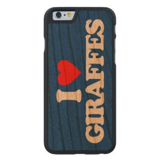 I LOVE GIRAFFES CARVED® CHERRY iPhone 6 SLIM CASE