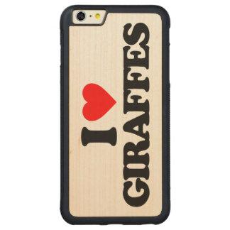 I LOVE GIRAFFES CARVED® MAPLE iPhone 6 PLUS BUMPER CASE