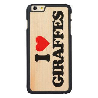 I LOVE GIRAFFES CARVED® MAPLE iPhone 6 PLUS CASE