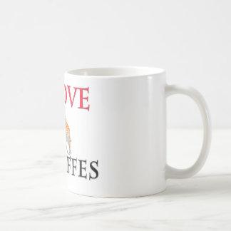 I Love Giraffes Classic White Coffee Mug