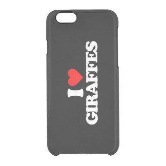 I LOVE GIRAFFES CLEAR iPhone 6/6S CASE