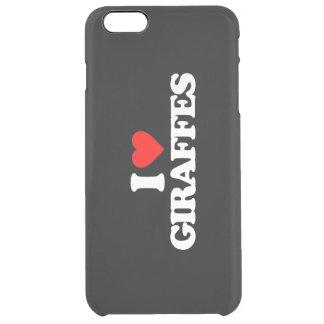 I LOVE GIRAFFES CLEAR iPhone 6 PLUS CASE