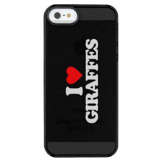 I LOVE GIRAFFES CLEAR iPhone SE/5/5s CASE