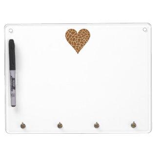 I Love Giraffes Dry Erase Board With Keychain Holder