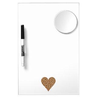 I Love Giraffes Dry Erase Board With Mirror