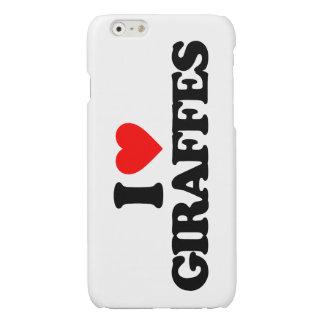 I LOVE GIRAFFES GLOSSY iPhone 6 CASE