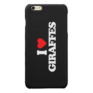 I LOVE GIRAFFES GLOSSY iPhone 6 PLUS CASE