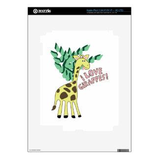 I Love Giraffes! iPad 3 Decal