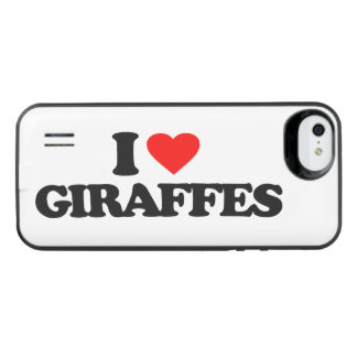 I LOVE GIRAFFES iPhone SE/5/5s BATTERY CASE