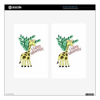 I Love Giraffes! Kindle Fire Skin