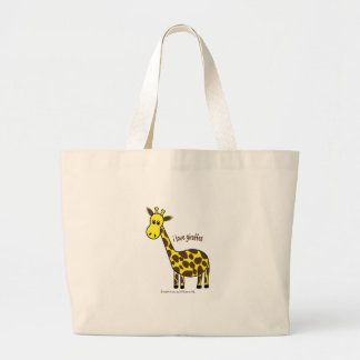 I LOVE GIRAFFES - LOVE TO BE ME TOTE BAGS