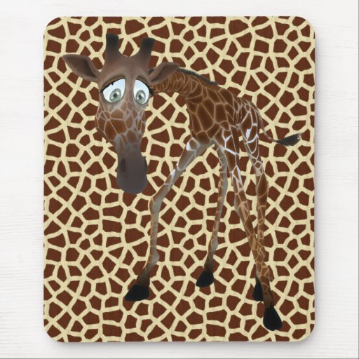 I Love Giraffes Mouse Pad