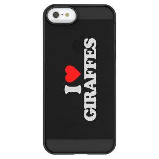 I LOVE GIRAFFES PERMAFROST® iPhone SE/5/5s CASE