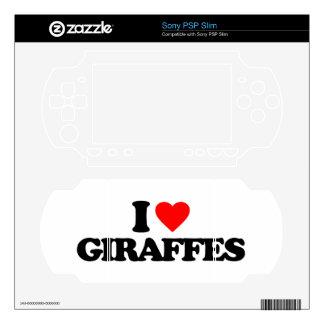 I LOVE GIRAFFES SKINS FOR SONY PSP SLIM