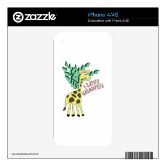 I Love Giraffes! Skins For iPhone 4S