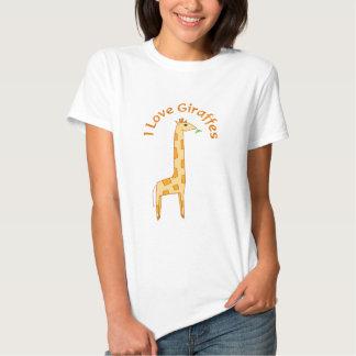 I Love Giraffes Tee Shirt