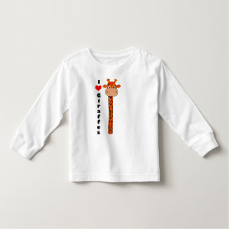 I love giraffes toddler t-shirt