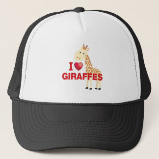 i love giraffes trucker hat