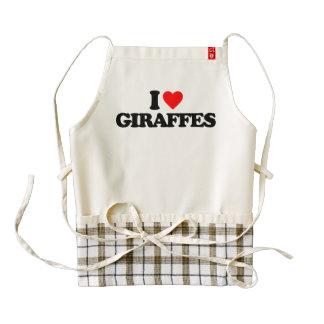 I LOVE GIRAFFES ZAZZLE HEART APRON