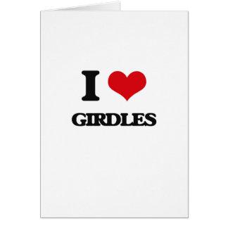 I love Girdles Greeting Card