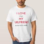 I love girlfriend/robotics t shirt