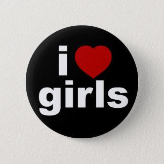 I Love Girls Black Button