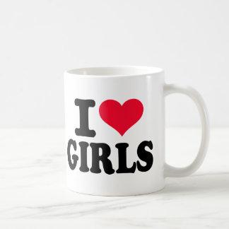 I love girls coffee mug