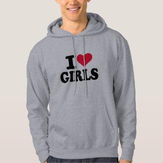 I love girls hoodie