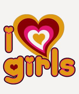 I Love Girls Ladies 3/4 Sleeve Raglan (Fitted) T-Shirt